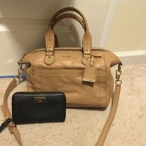 Cole haan leather satchel and wallet purse